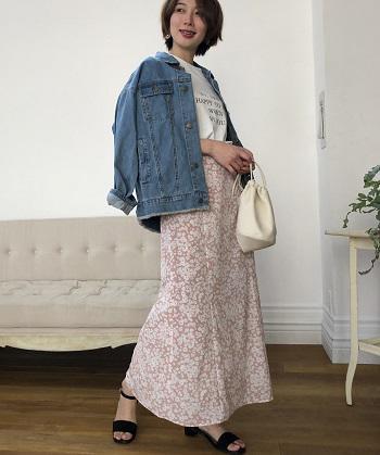 【新色発売のお知らせ】単色花デシンスカート
